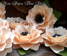 Handmade Paper Flowers - Wedding Decorations -Table Decor - Elizabeth Rose - Set of 10 - Any Color - Table Decorations - Made To Order. $22.50, via Etsy.