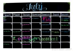 Count the days in style with our colorful chalk markers. Create a large-as-your-life family calendar with sheets of chalkboard vinyl stuck to a prominent wall—don't worry, it's repositionable.