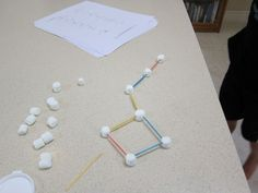Marshmallow Constellations - great idea since the younger boys are studying Astronomy this year! Primary Science, 5th Grade Science, Kindergarten Science, Elementary Science, Science Classroom, Teaching Science, Science For Kids, Science Crafts, Science Activities