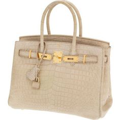 In LOVE with this nude Hermes crocodile Birkin...if only it didn't cost $70,000