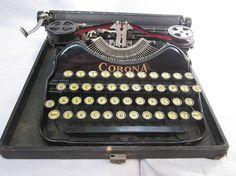 Vintage Corona Four Typewriter in Black