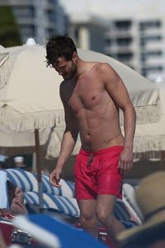 Here we go. Jamie Dornan, shirtless. Those ... that ... his .... Moment of silence. Appreciation. Deep breath.