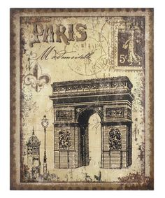 Look at this #zulilyfind! Arc de Triomphe Burlap Wall Décor by Stonebriar Collection  #zulilyfinds