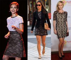 encaje en contraste Shirt Dress, T Shirt, Trends, Dresses, Fashion, Lace, Supreme T Shirt, Vestidos, Moda