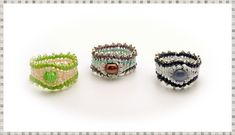 TheHeartBeading: Herringbone Ring Tutorial.  (Cool looking!  15's, 11's (?delica?), anf a 6mm round.)
