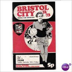 Bristol City v Fulham Football Programme 26/09/1972 Division 2 Sale