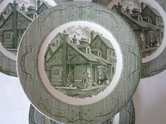 the old curiosity shop dishes | Vintage Royal China The Old Curiosity Shop Set of Six Dinner Plates ...