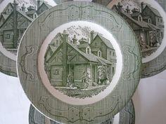 the old curiosity shop dishes   Vintage Royal China The Old Curiosity Shop Set of Six Dinner Plates ...