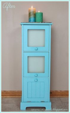 Painted Cabinet Makeover by Apron's N' Pearls