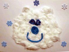 fuzzy polar bear craft to go along with Eric Carle's Polar Bear, Polar Bear