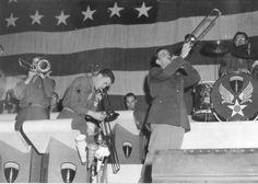 Glenn Miller Concert at Thorpe Abbotts.   (100th Photo Archives)An RAF station 4 milles east of Norfolk, England