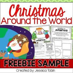 FREE Christmas Around the World sample for America- December Activities and primary resources plus three FREEBIES- fun ELA, math, and social studies activities for students during the month of December Holiday Celebrations Around The World, Celebration Around The World, Holidays Around The World, Social Studies Activities, Writing Activities, Classroom Activities, Classroom Ideas, English Activities, Christmas Trivia