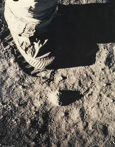 Buzz Aldrin's boot in lunar soil, during the Apollo 11 mission in July 1969, estimated at £750