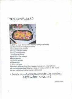 Troubový gulášek :-) Food, Essen, Meals, Yemek, Eten