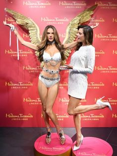 Alessandra Ambrosio gets her Madame Tussauds figure in Shanghai, China.