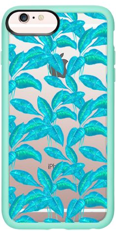 Casetify iPhone 6s Plus Classic Grip Case - spring mint leaves garden botanic festival pattern by Carla Zancanaro  #botanic #floral #leave #rubber #plant #nature #leaf #blue #mint #summer #spring #jungle
