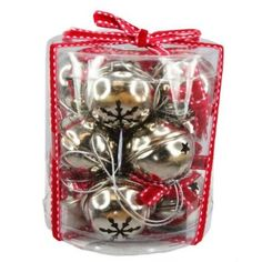 Set of Silver Bells Christmas Decorations - Small: Amazon.co.uk: Kitchen & Home