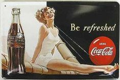 Coca Cola- Early 50's ad. This lady knows Coke is refreshment!