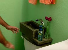 Clever DIY Toilet Sink Makes Your Flush Do Double Duty  - PopularMechanics.com