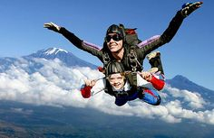 skydiving - something I've always wanted to try-on my bucket list! Places To Travel, Places To Go, Base Jumping, Bungee Jumping, Life List, Kilimanjaro, Beautiful Sites, Before I Die, Thinking Outside The Box