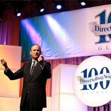 Doug DeVos, Prsident of Amway speaking at the DSN Global 100 event.