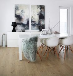 PETRA LORCH | lorch-art | INTERIOR DESIGN |Achern | Germany | Petra, Dining Table, Black And White, Interior Design, Chair, Abstract, Germany, Walls, Painting