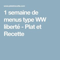 1 week of WW freedom menus – Main course and Recipe – Car stickers Types Of Cocktails, Healthy Cocktails, Fun Cocktails, Cocktail Recipes, Menu Weight Watchers, Menu Ww, Cocktail Machine, Weigth Watchers, Knowledge And Wisdom