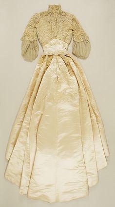 Silk Wedding Dress 1900