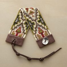 RAVENNA BRACELET Chan Luu beaded mosaic bracelet w geometric arrangement of matte-finished Japanese glass beads.