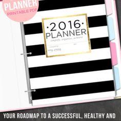2016 Planner 2016 Organizer - Letter Size 2016 Printable Planner