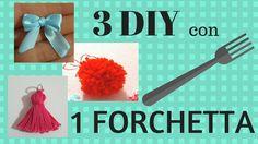 3 DECORAZIONI con 1 FORCHETTA - 3 DIY with 1 FORK