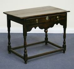 antique william and mary furniture | William and Mary oak side table - Antique & Period Furniture