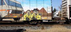 Breaking Bad Art, Dean Norris, Jonathan Banks, Graffiti Art