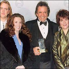Johnny Cash Daughters   ... right – John Carter, June Carter Cash, Johnny Cash and Rosanne Cash
