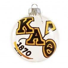 One-Sided Kappa Alpha Theta Holiday Disc Ornament