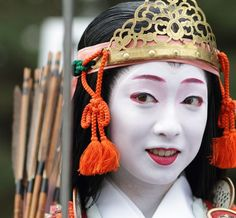 JapanThe geiko (geisha) Kimika stars as the beautiful 12th century samurai warrior Tomoe Gozen in the Jidai Matsuri, one of the three big festivals of Kyoto.Michael Chandler/momoyama