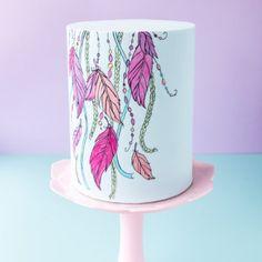 ~Hand-Painted Cake Tutorial ~ Boho Inspired Cake~