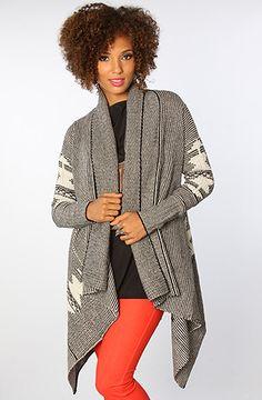 BB Dakota The Keanu Native Sweater Cardigan in Black and Ivory : Karmaloop.com  $106