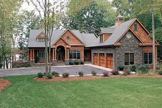 Craftsman Style House Plan   4 Beds 4.5 Baths 4304 Sq/Ft Plan #453
