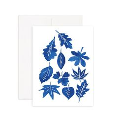 Fallen Leaves Greeting Card Printed on 100% recycled paper. Blank inside, perfect for any occasion.