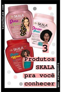 3 Cremes de Tratamento Skala para você conhecer • Tu Cacheias Pre Shampoo, Blog, Avocado Oil, Shea Butter, Linseed Oil, Mineral Oil, Argan Oil, Blogging