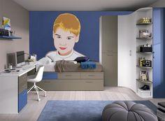 Ilustración realizada para tarjetón de comunión y que posteriormente se realizó vinilo para dormitorio juvenil.