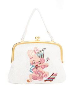 MEADHAM KIRCHHOFF - Beaded Bear Embroidered Bag
