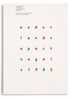 Paul Hefting, nederlandse postzegels 1982, Staatsbedrijf der PTT (Posterijen, Telegrafie en Telefonie), 1982. Book Design: Karel Martens