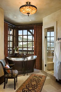Master Bathroom...that tub...that view...fabulous!|Locati Architects