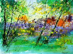watercolor. LOVE all the green in this picture.