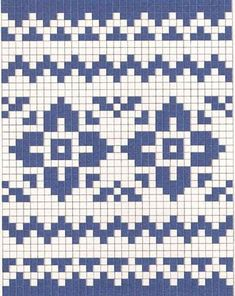 Tapestry Crochet Patterns, Fair Isle Knitting Patterns, Fair Isle Pattern, Knitting Charts, Knitting Stitches, Knit Patterns, Stitch Patterns, Knitting For Kids, Double Knitting