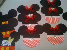 Mickey & Minnie Mouse Birthday Invites