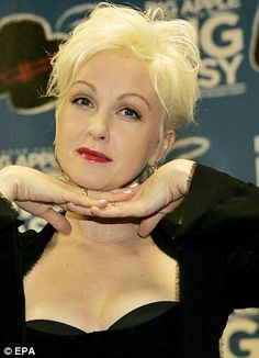 Age gracefully: Women think that it's time to start aging gracefully at Cyndi Lauper's age of 59 and voted Helen Mirren the most gracefully aged