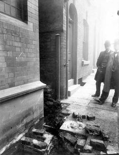Armley Library, old drain
